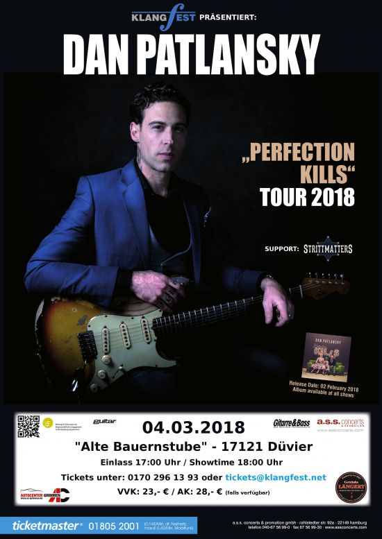 "Dan Patlansky - ""Perfection Kills"" Tour 2018"